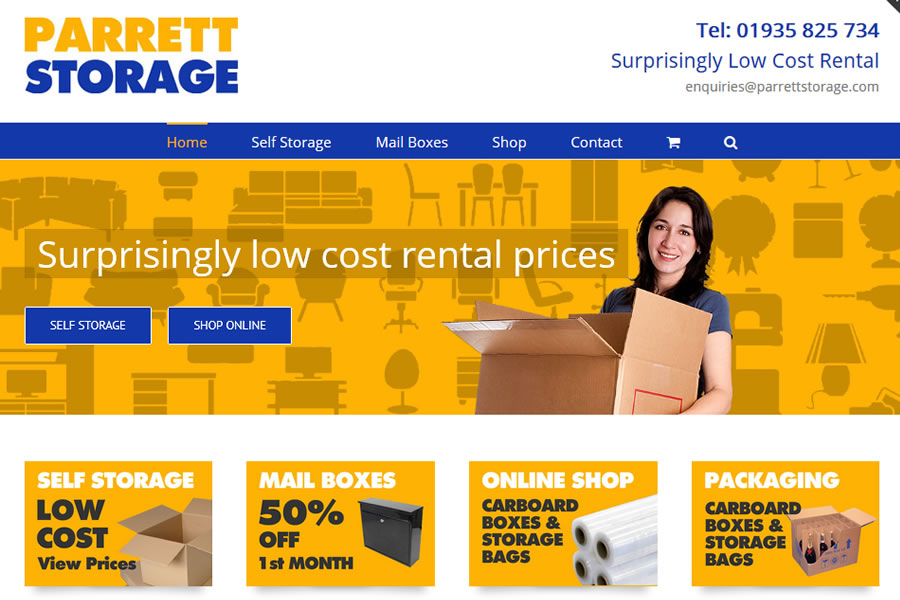 Parrett Storage - Self Storage Website Designers in Somerset