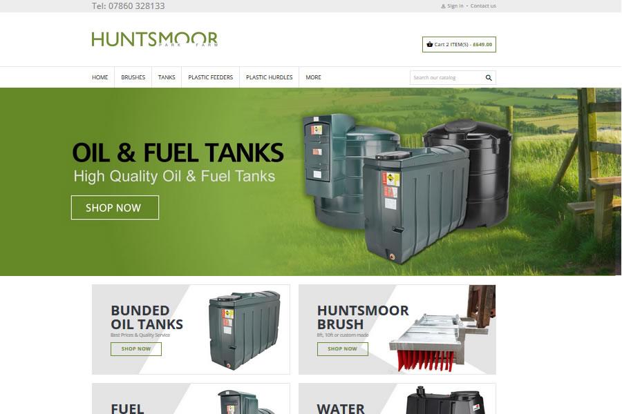 Huntsmoor ecommerce website design
