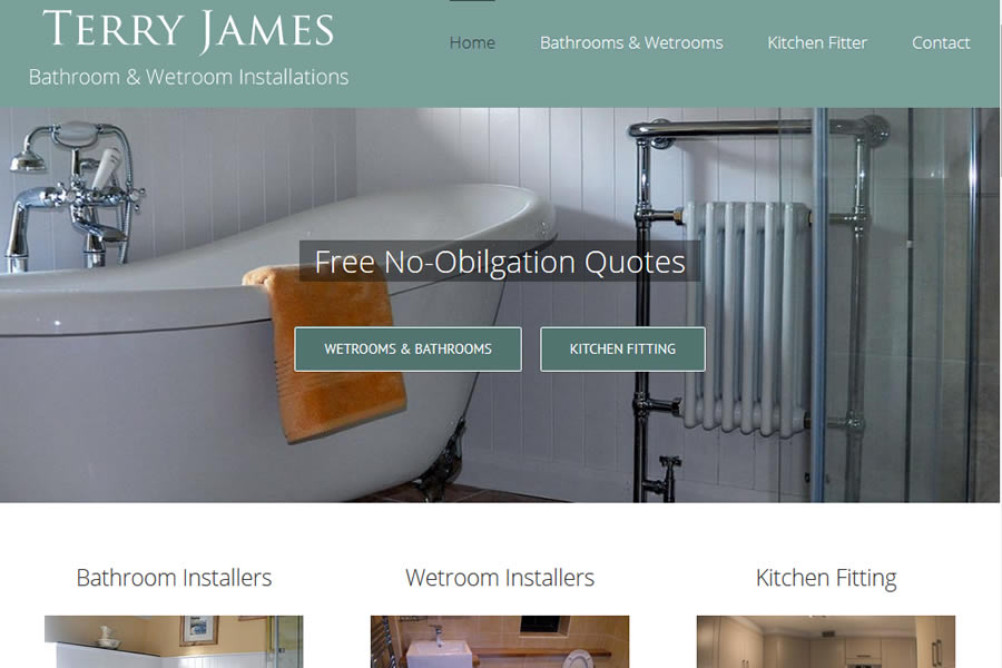 Bathroom and Wetroom Website designers in Somerset