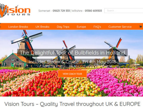 eCommerce Website Redevelopment for Vision Tours