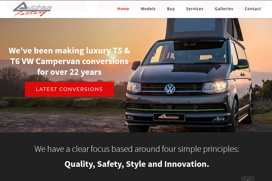 VW Volkswagon Conversion Website Designer Specialists