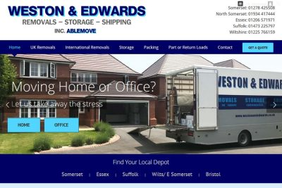 Removal Company Website Designers in Somerset