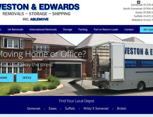 New Website for Weston and Edwards Removal Company