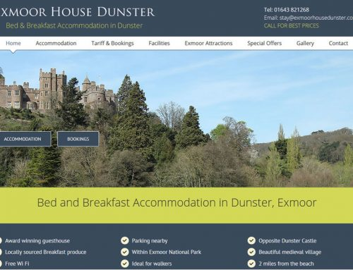 Website Upgrade for Exmoor House Dunster
