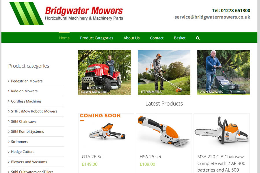Gardening Ecommerce Website Designers in Taunton, Somerset