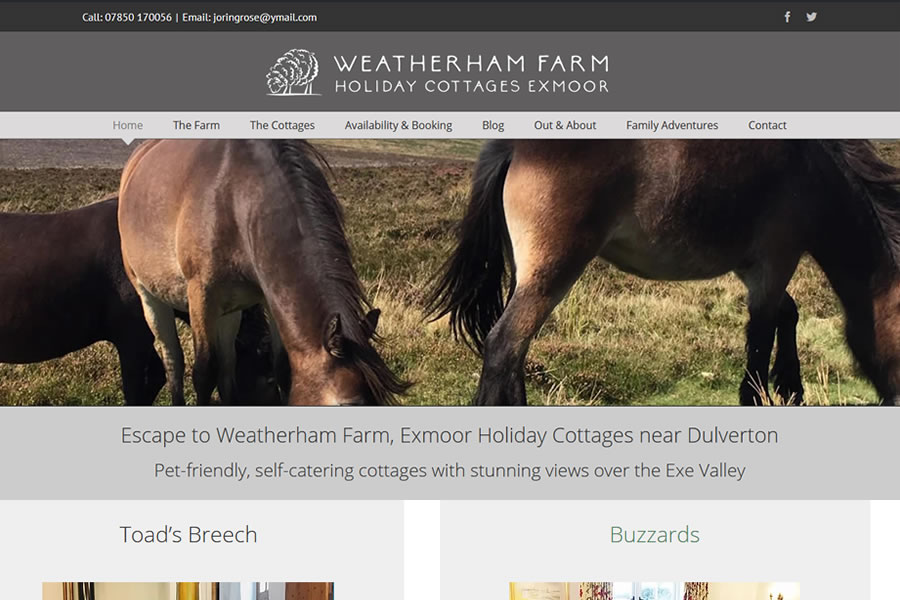 Exmoor Holiday Accommodation Website Designers